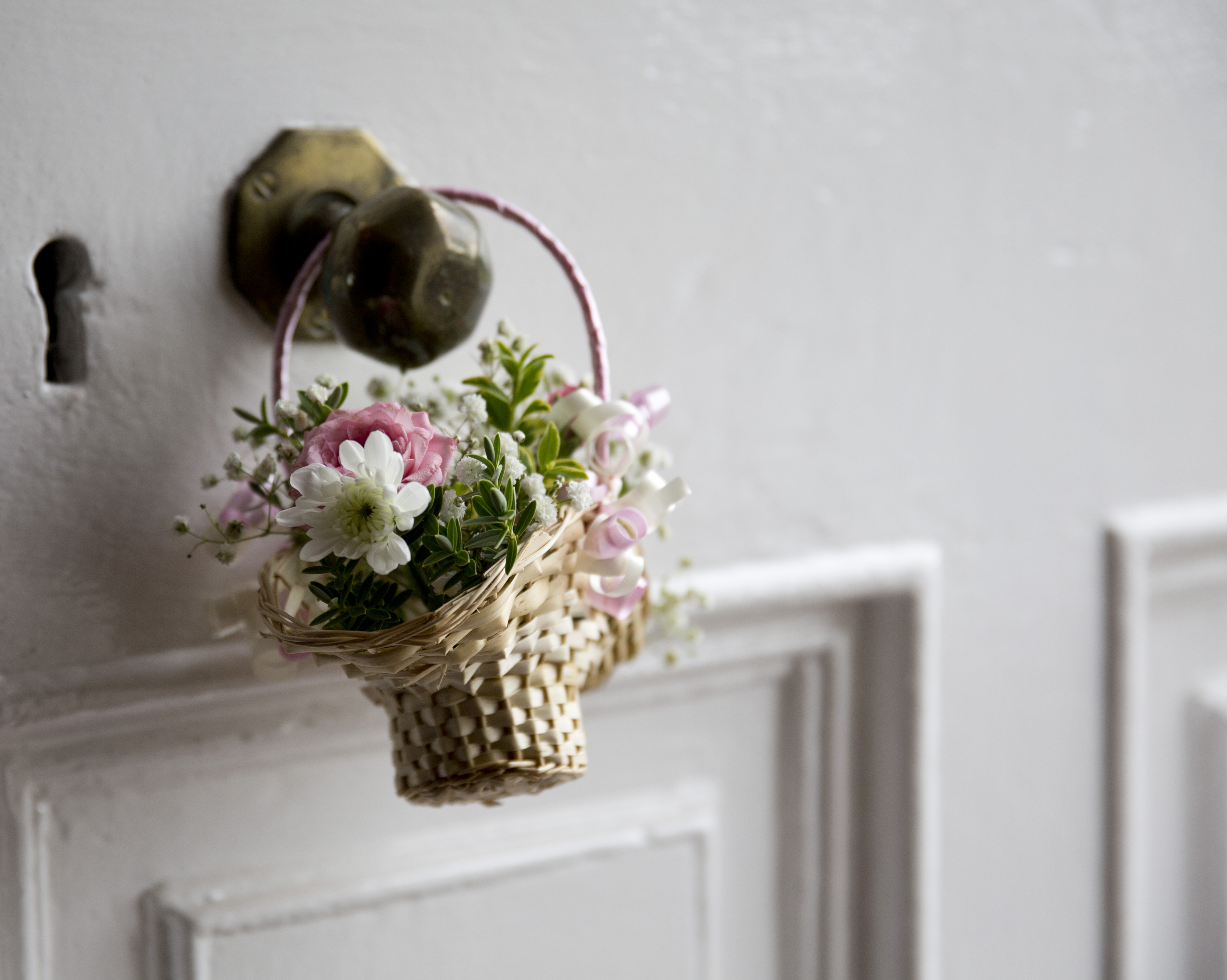 basket on the front door